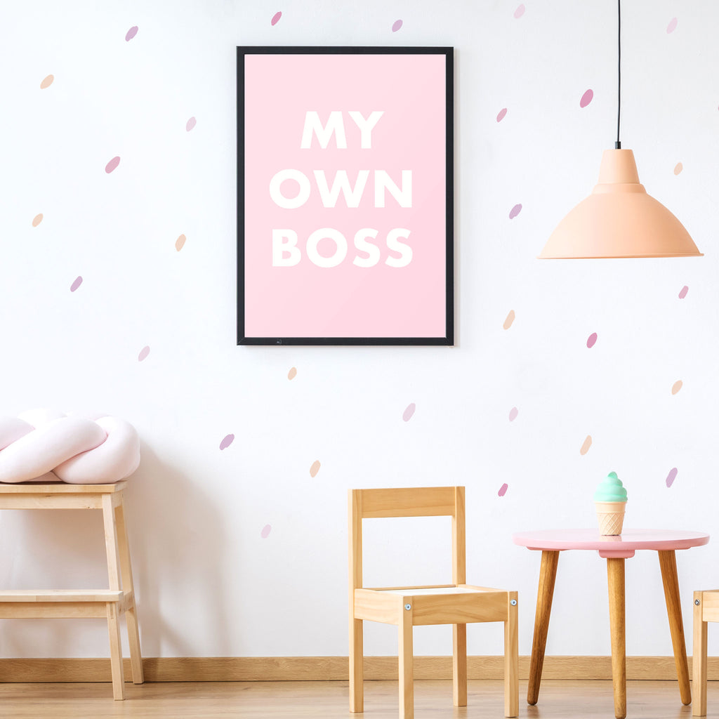 My Own Boss Poster, wall decals by Made of Sundays