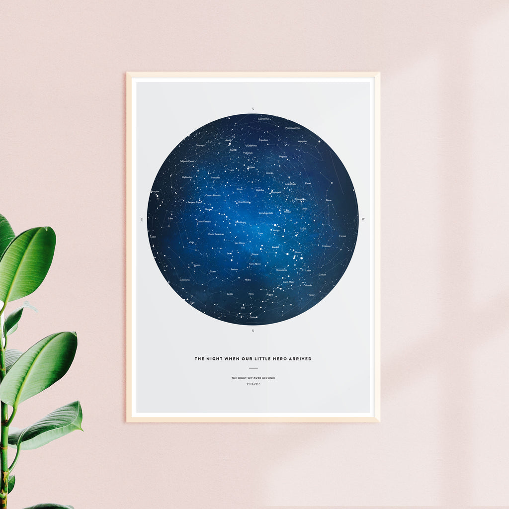 Night Sky Star Map, Space, wall decals by Made of Sundays