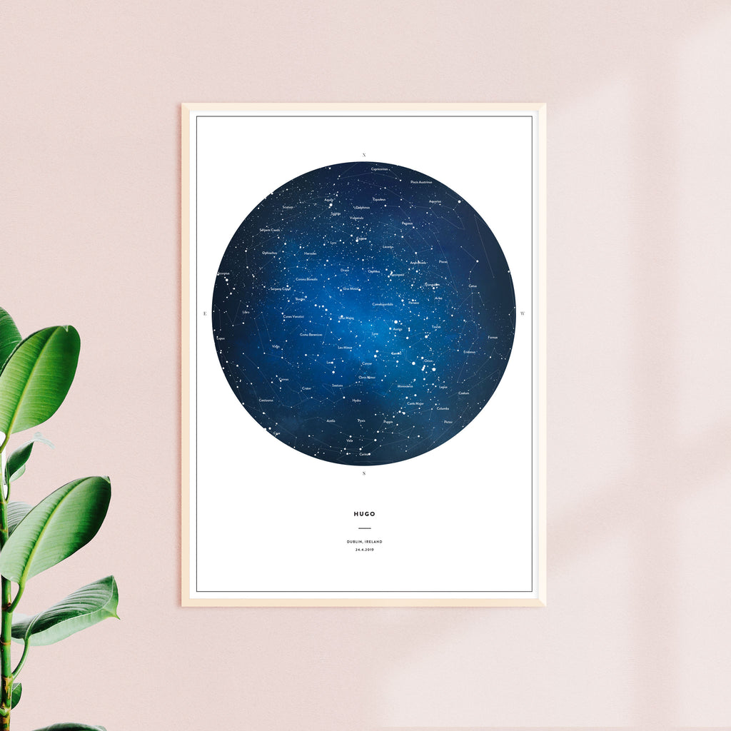 Night Sky Map, Space, wall decals by Made of Sundays