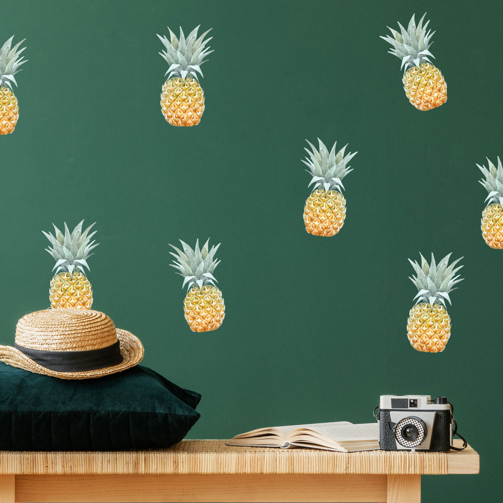 Pineapple Wall Stickers, wall decals by Made of Sundays