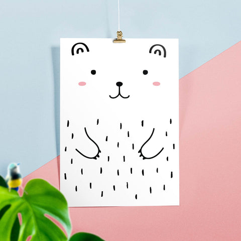 Haru the Bear Poster, Posters & Prints - Made of Sundays