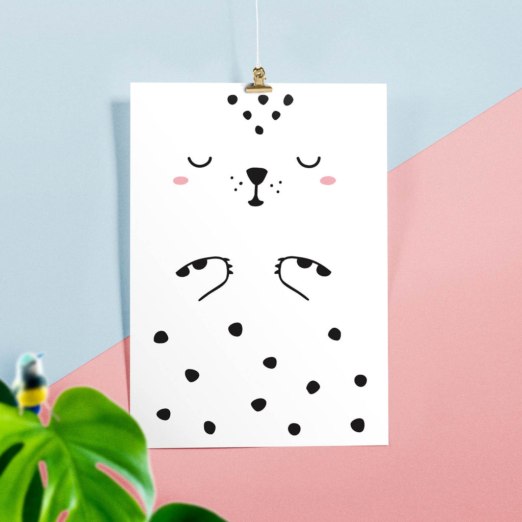 Luca the Leopard Poster, wall decals by Made of Sundays