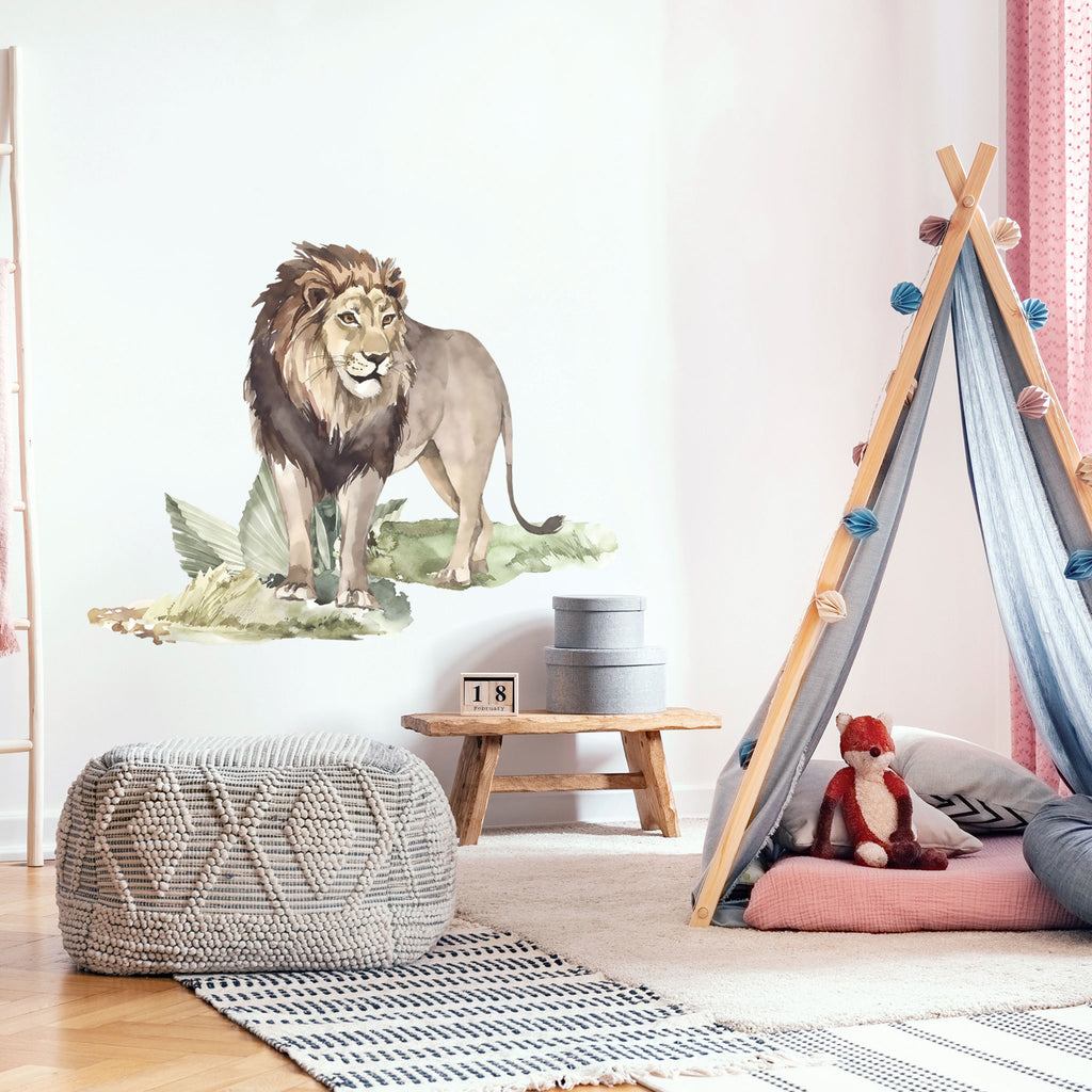 Lion with plants Wall Sticker