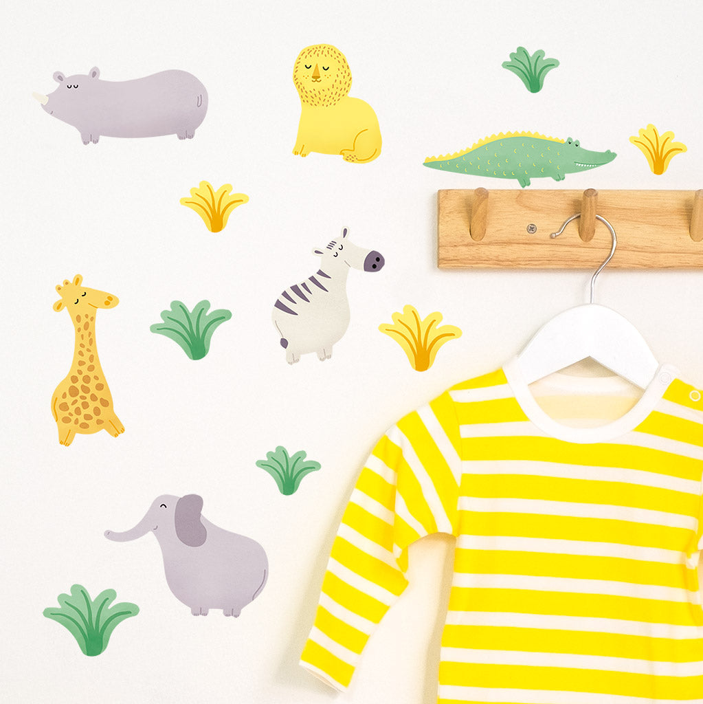Safari Animal Stickers, wall decals by Made of Sundays