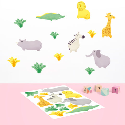 Safari Animal Stickers, Printed - Made of Sundays