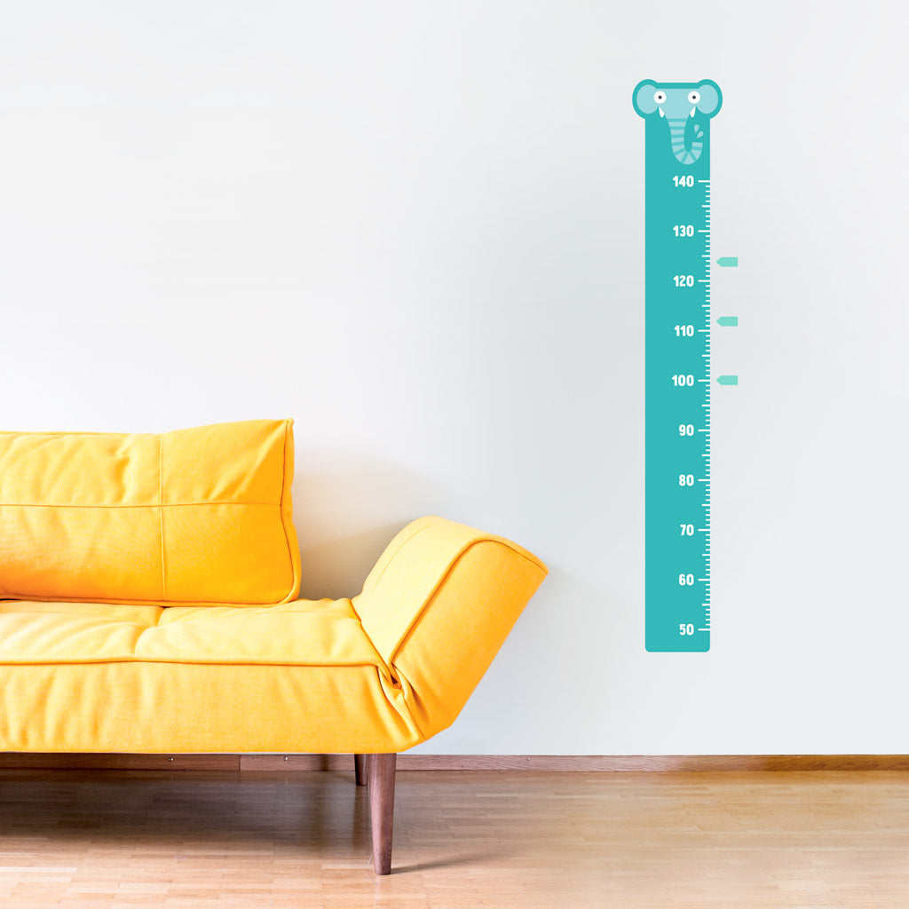 Height Chart, Blue Elephant, wall decals by Made of Sundays