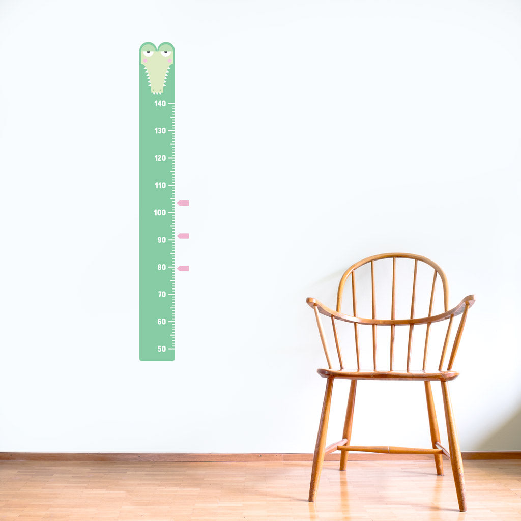 Height Chart, Crocodile, wall decals by Made of Sundays