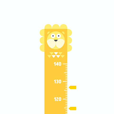 Height Chart, Lion, Height Chart - Made of Sundays