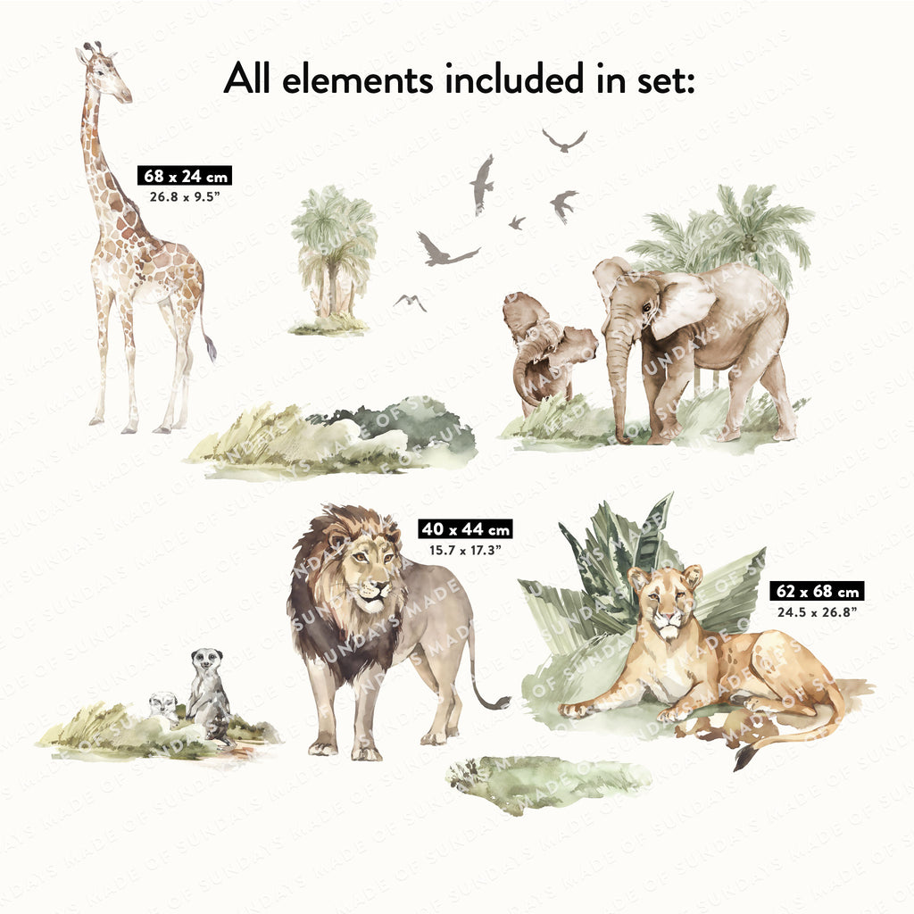 Savanna Animals Wall Stickers
