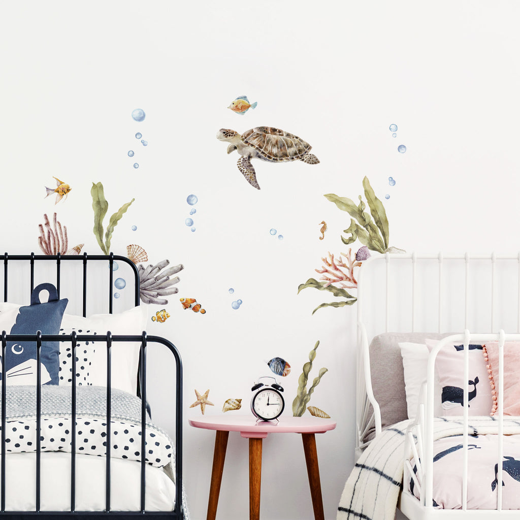 Sea Life Turtle Wall Stickers