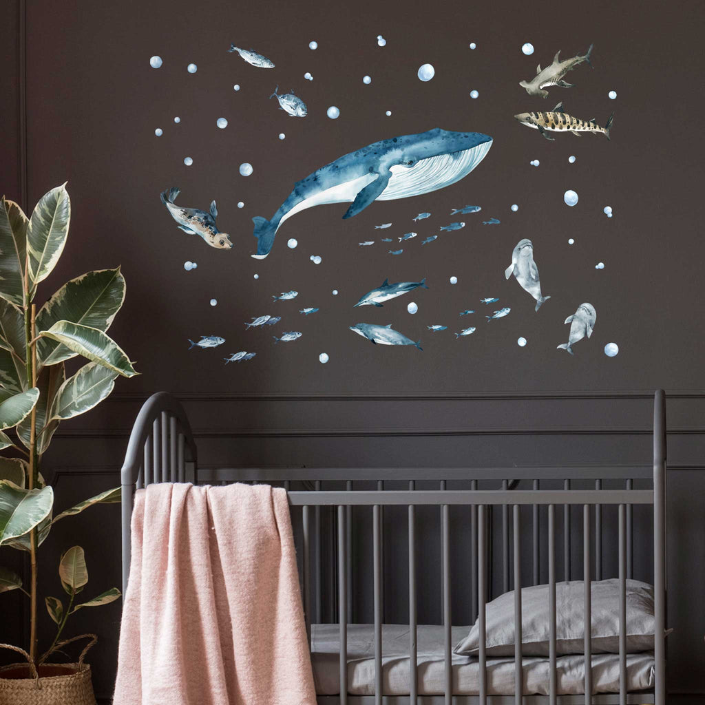 Sea Life Whale, Dolphins & Sharks Wall Stickers