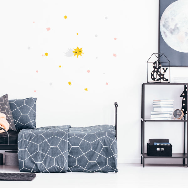 Galaxy Shooting Star, wall decals by Made of Sundays