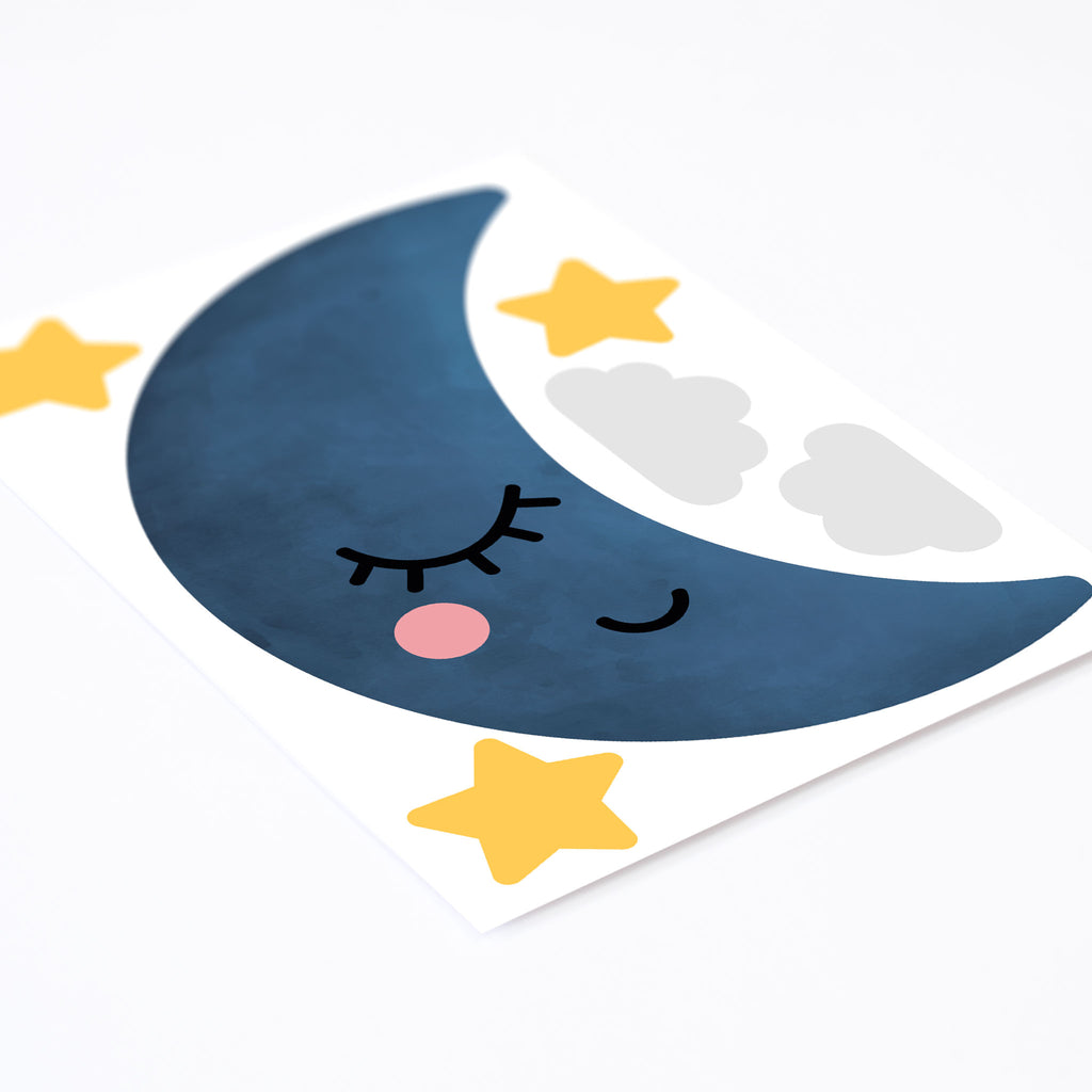 Dreamers Sleepy Half Moon Wall Stickers, wall decals by Made of Sundays
