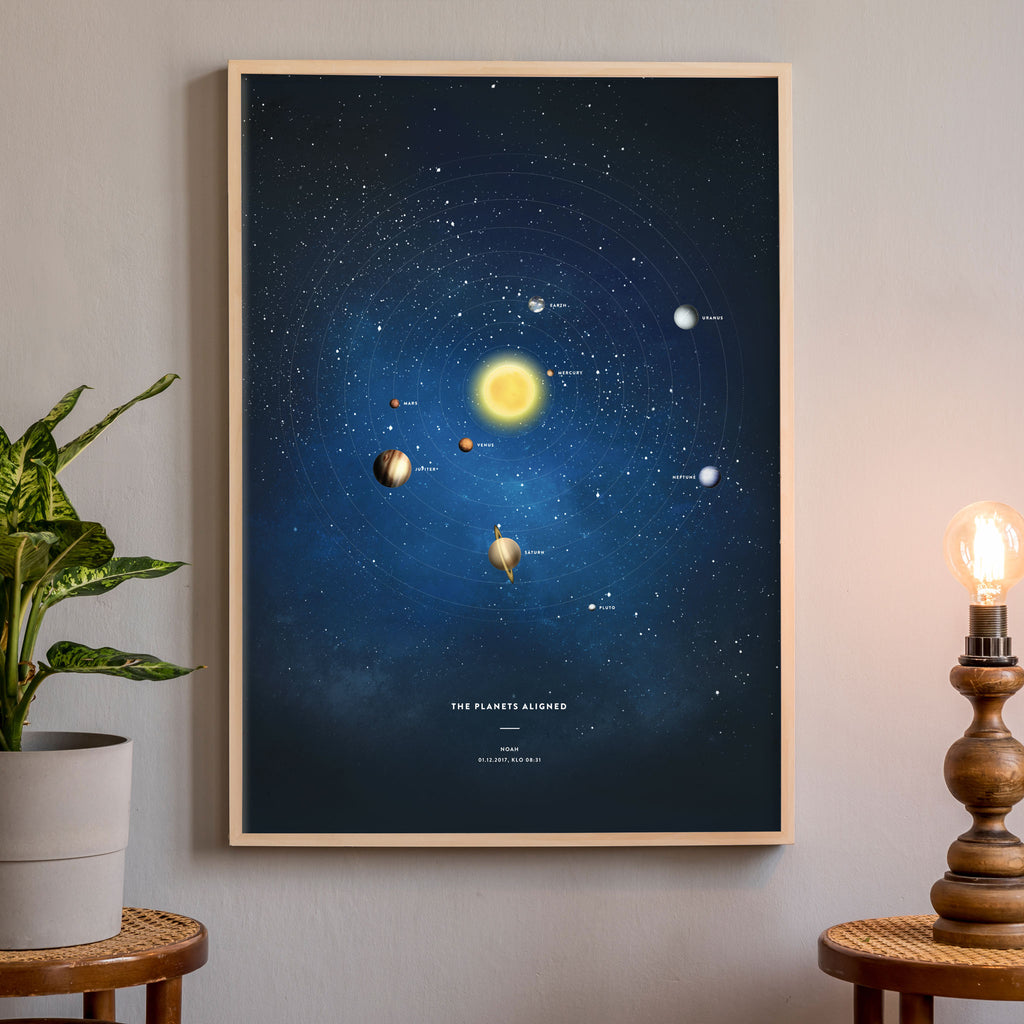 Personalised Solar System Poster, wall decals by Made of Sundays