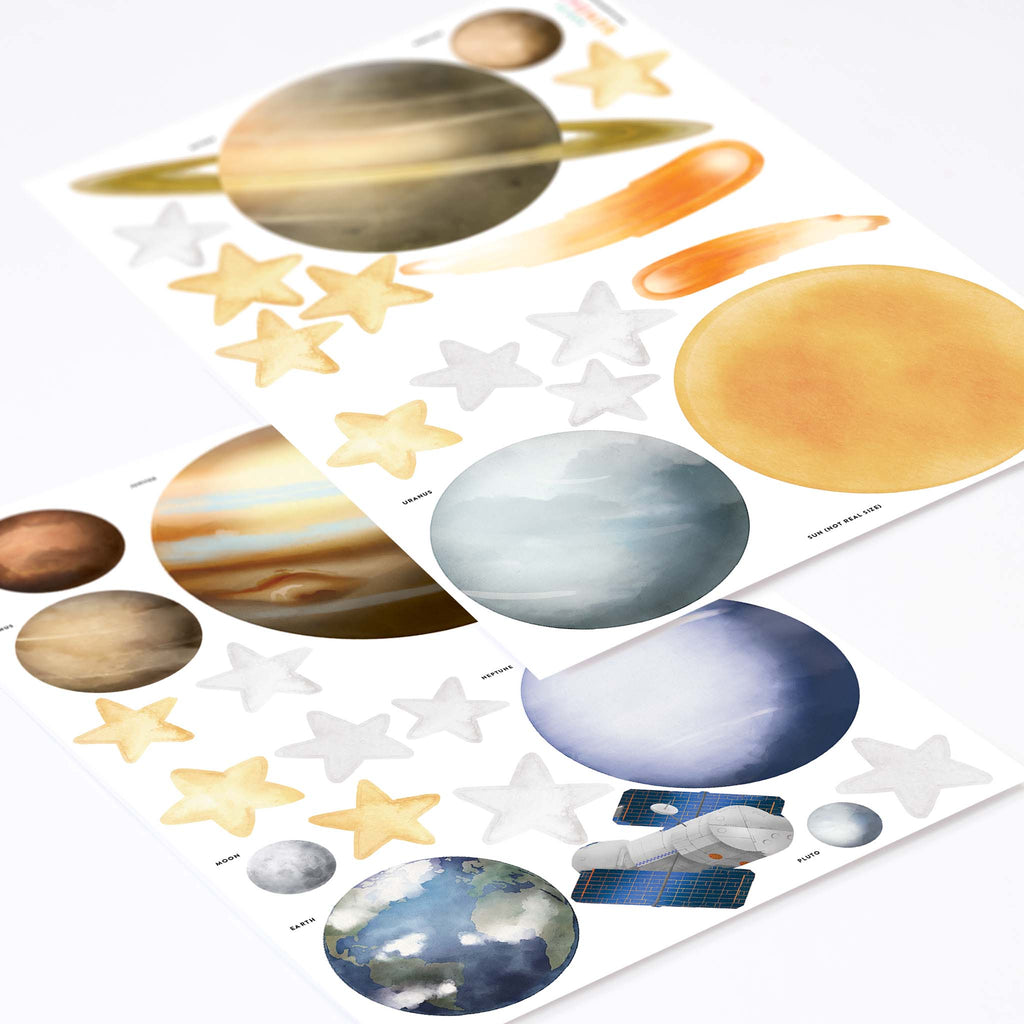 Solar System, Watercolour wall stickers