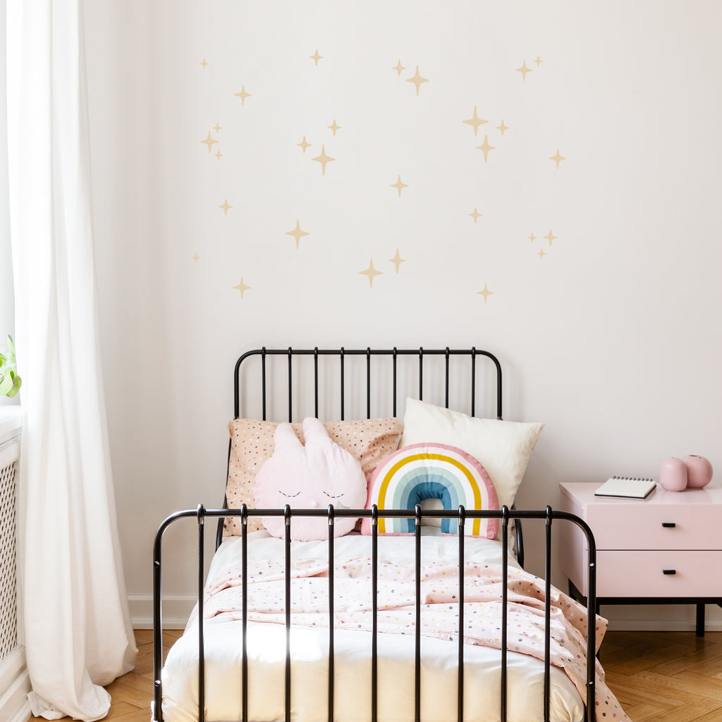 Sparkling Stars Wall Stickers, wall decals by Made of Sundays