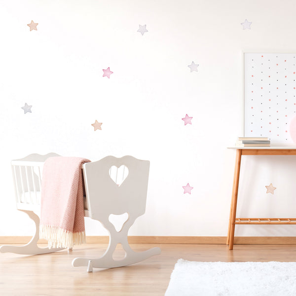 Arctic Small Star Mix, wall decals by Made of Sundays