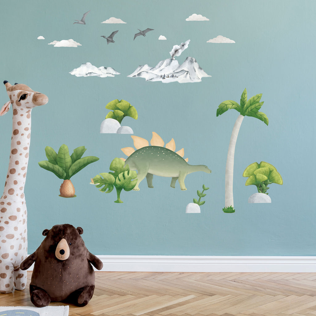 Stegosaurus Dinosaur Wall Sticker, wall decals by Made of Sundays
