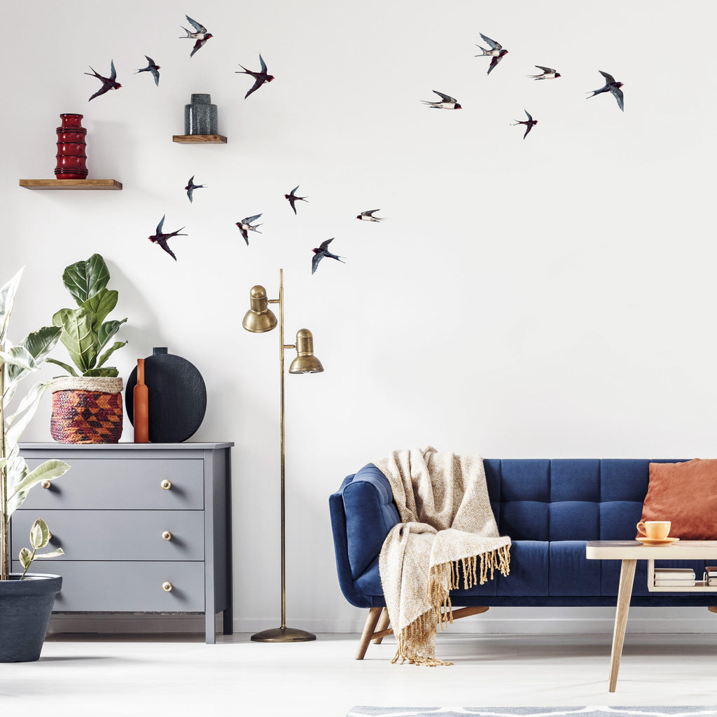 Swallows & Clouds Wall Sticker Themepack, wall decals by Made of Sundays