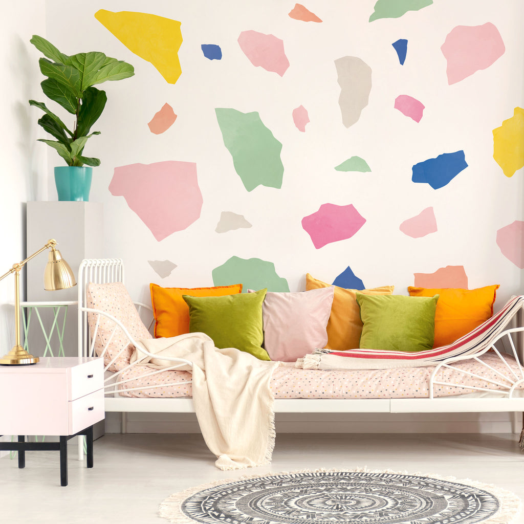 Big Terrazzo Wall Stickers, Colourful