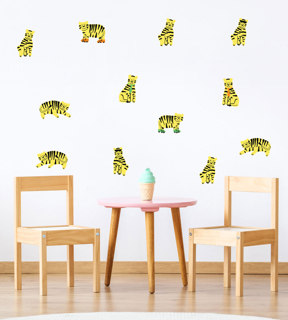 Small Tigers Wall Stickers, wall decals by Made of Sundays