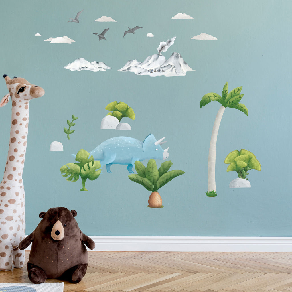 Triceratops Dinosaur Wall Sticker, wall decals by Made of Sundays