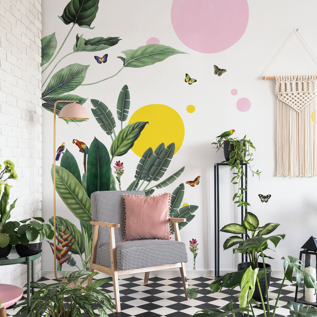 Vintage Tropical Jungle with Shapes, wall decals by Made of Sundays