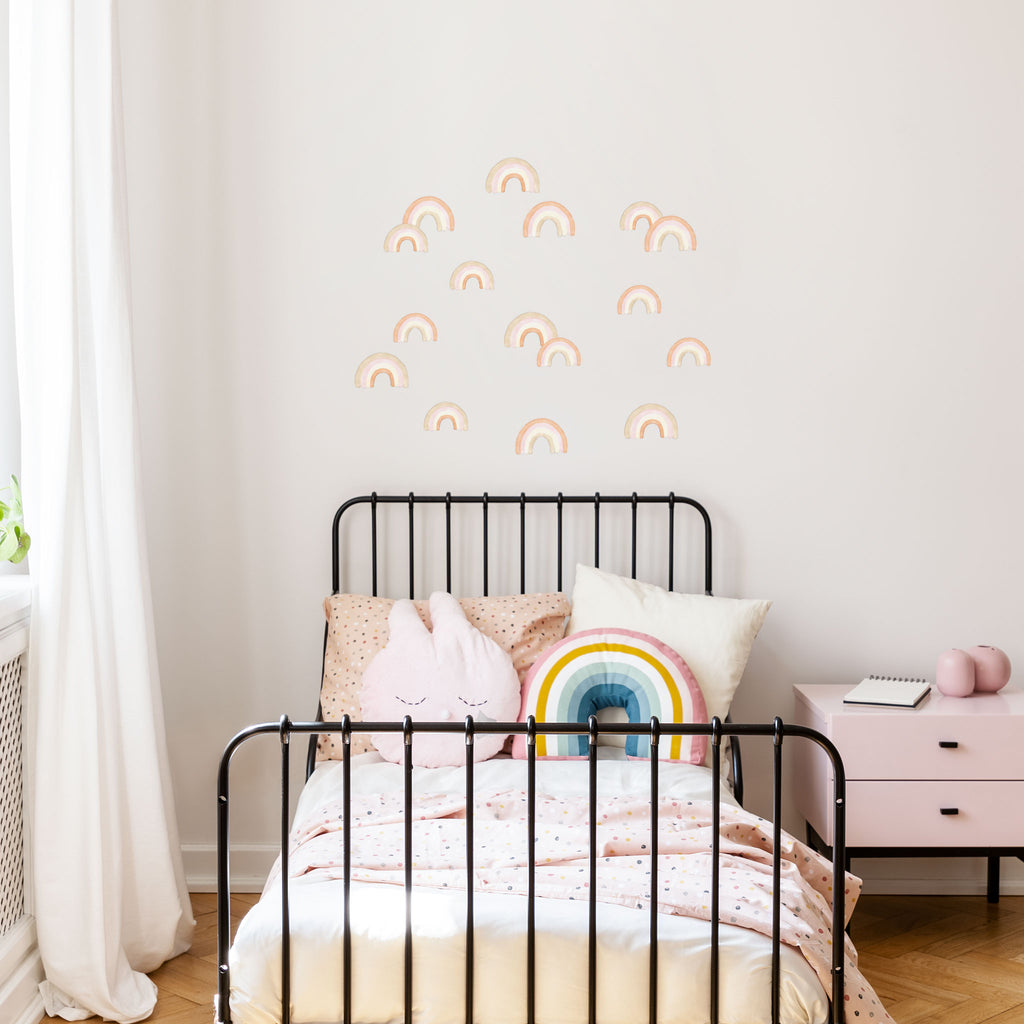 Boho Chic Rainbows Wall Stickers, wall decals by Made of Sundays
