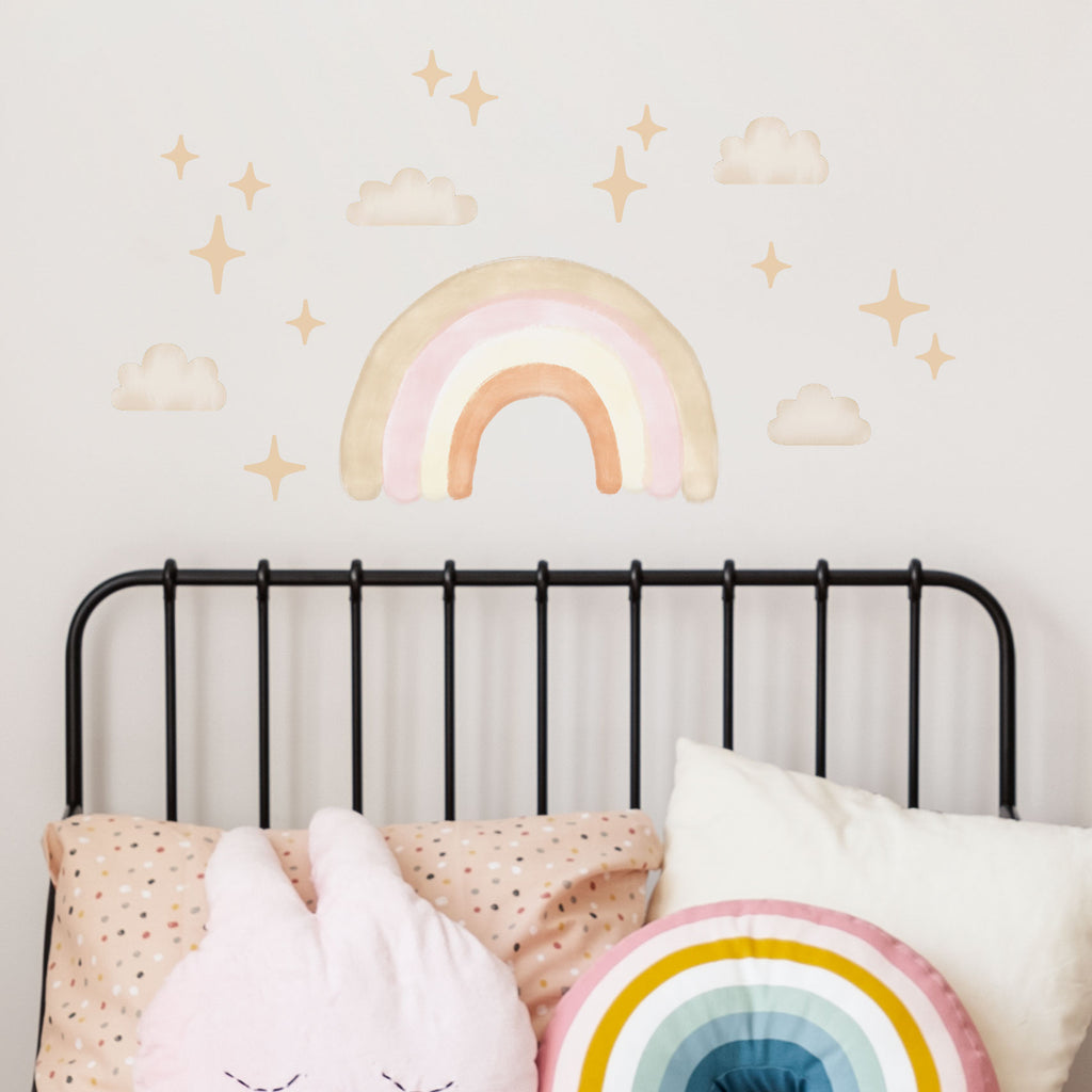 Boho Chic Medium Rainbow Wall Stickers, wall decals by Made of Sundays