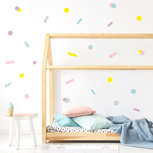 Pop Confetti, wall decals by Made of Sundays