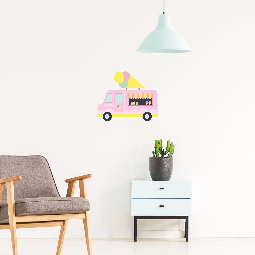 Pop Ice cream truck, wall decals by Made of Sundays