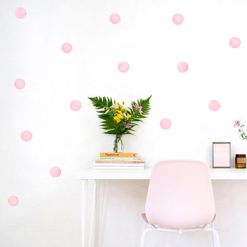 Watercolour Polka Dots 6 cm, Wallpaper Sticker - Made of Sundays