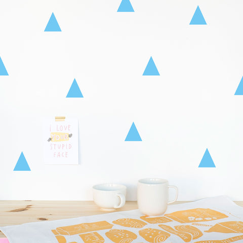 Triangles, 5 cm, Wallpaper Sticker - Made of Sundays