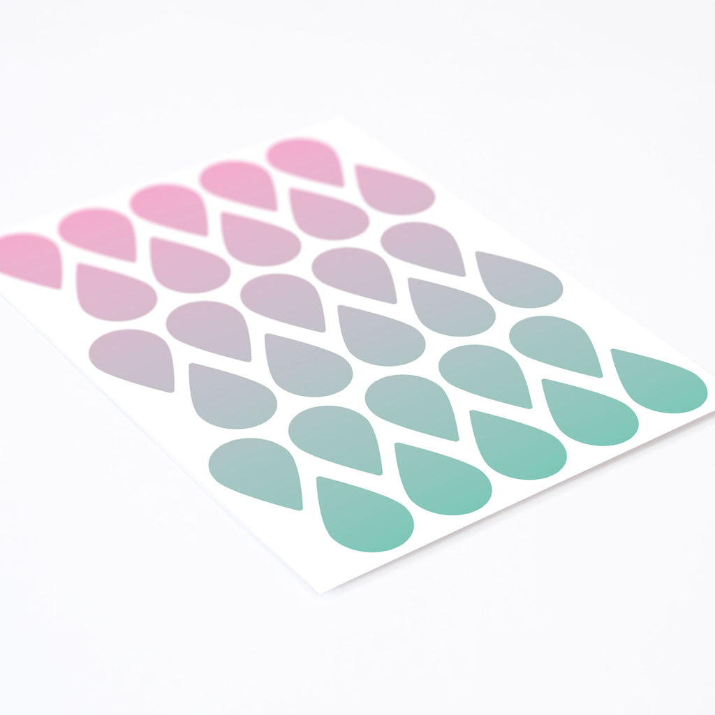Gradient Rain Drops, Wallpaper Sticker - Made of Sundays