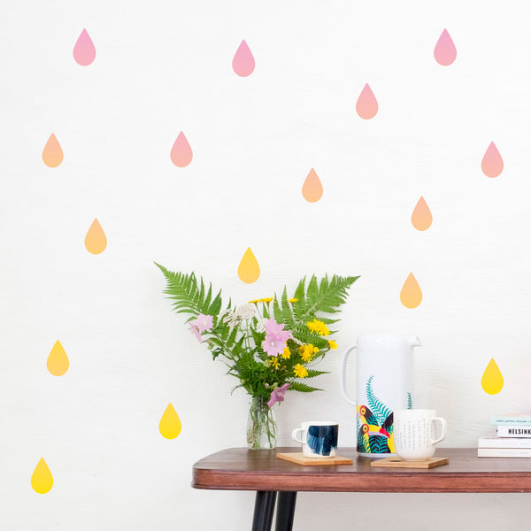 Gradient Rain Drops, wall decals by Made of Sundays