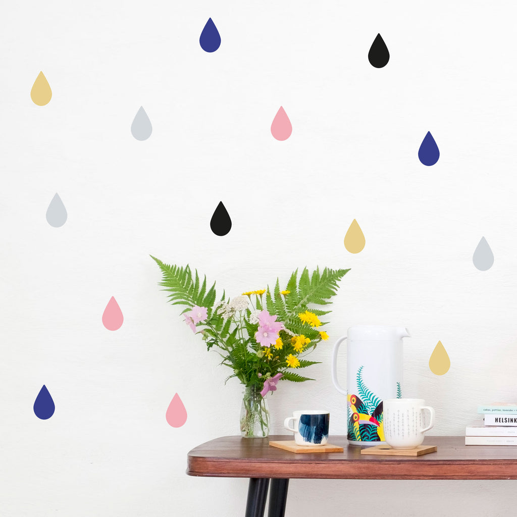 Rain Drop Mixes, Wallpaper Sticker - Made of Sundays