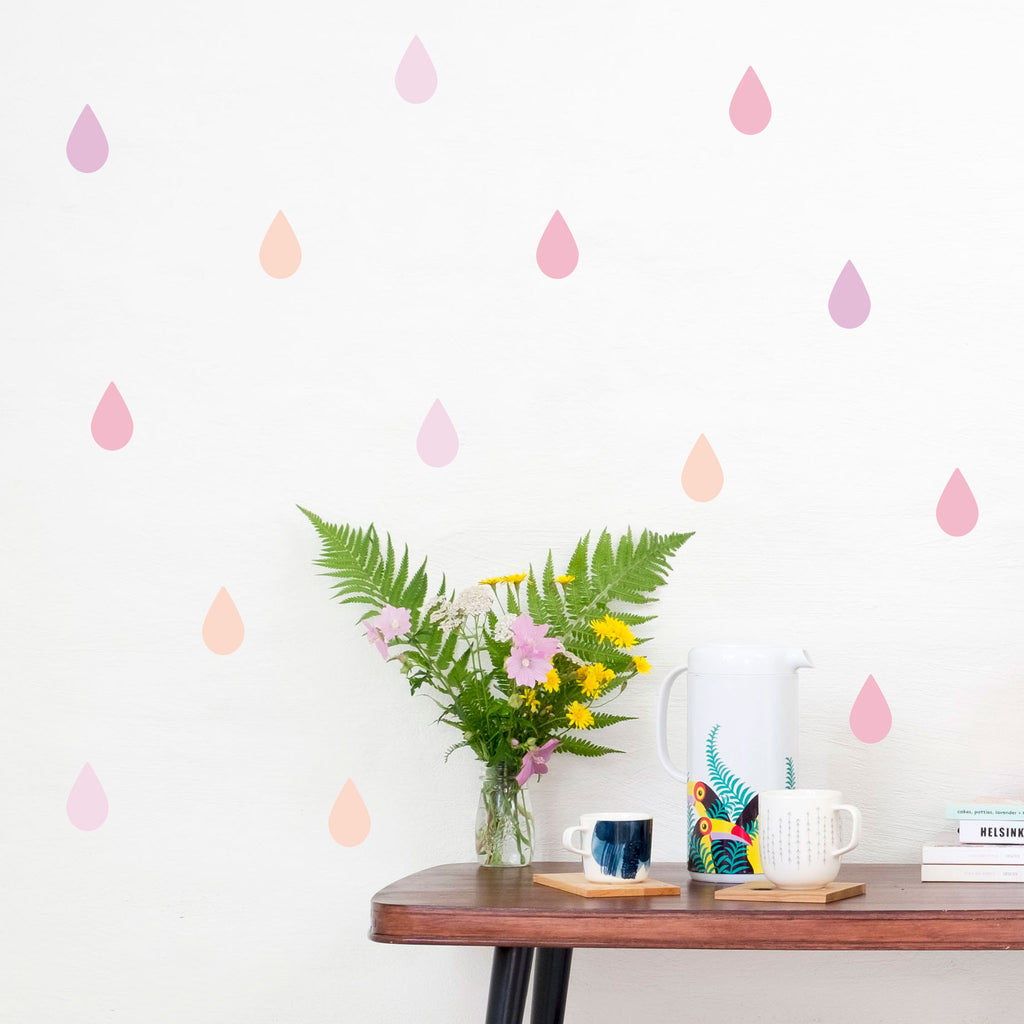 Rain Drop Wall Stickers Mixes, wall decals by Made of Sundays