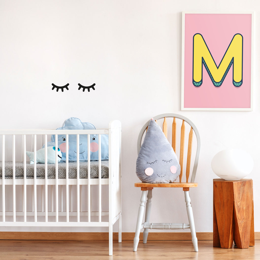 Eyelashes Wall Stickers, wall decals by Made of Sundays