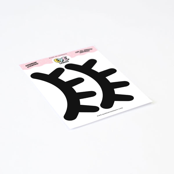 Eyelashes, wall decals by Made of Sundays