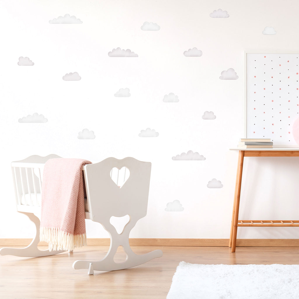 Arctic Watercolour Clouds Wall Stickers, wall decals by Made of Sundays