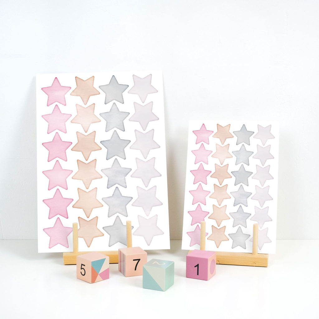 Arctic Big Star Mix Wall Stickers, wall decals by Made of Sundays