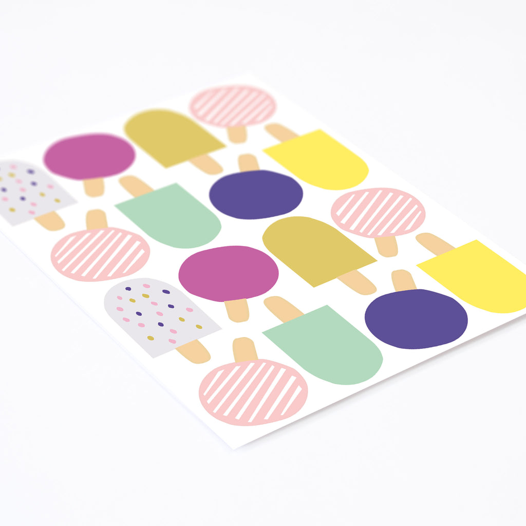 Pop Popsicles, Wallpaper Sticker - Made of Sundays