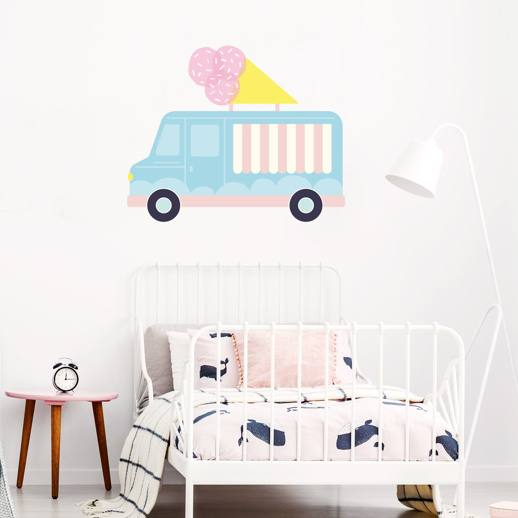 Pop Gelato truck Wall Sticker, wall decals by Made of Sundays