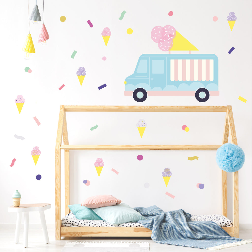 Pop Ice Cream Wall Stickers Theme Pack, wall decals by Made of Sundays