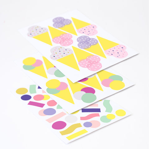 Pop Ice Cream Pack, Wallpaper Sticker - Made of Sundays