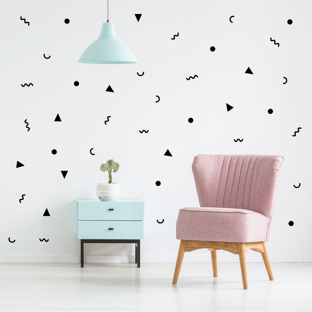 80's Party Wall Stickers, wall decals by Made of Sundays