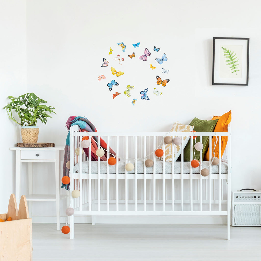 Butterflies Watercolour Wall Stickers, wall decals by Made of Sundays