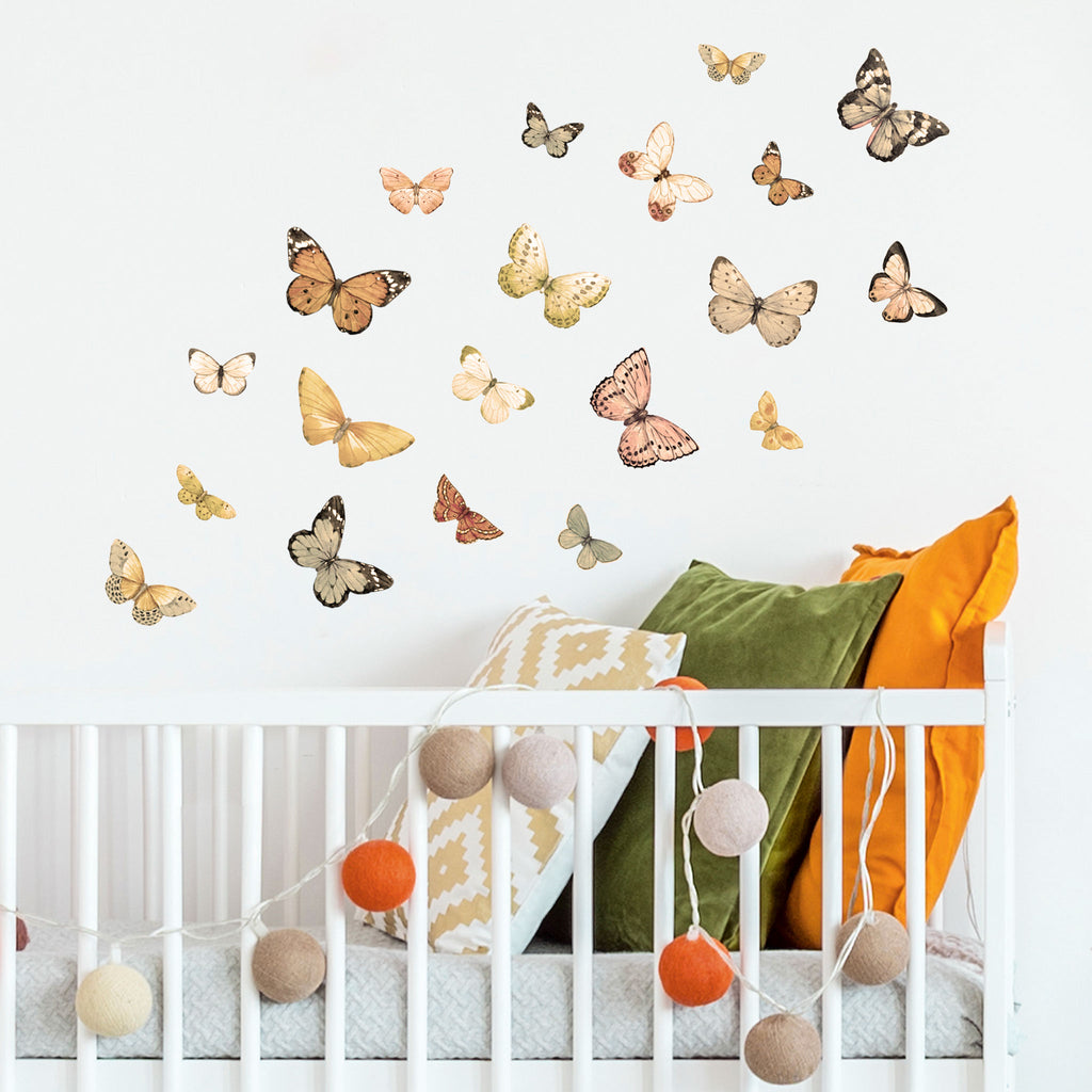 Butterflies Vintage Wall Stickers, wall decals by Made of Sundays