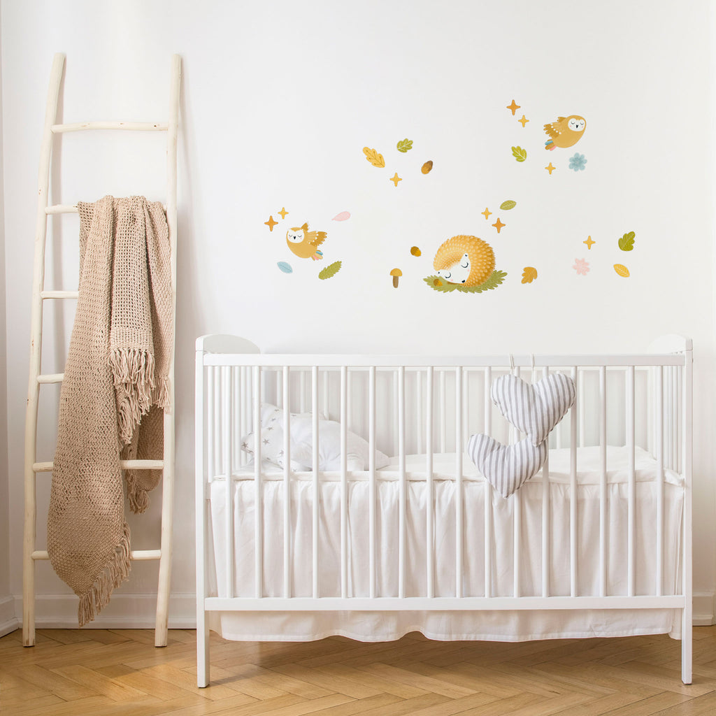 Cute woodland forest wall decal animals for kids room decor ...