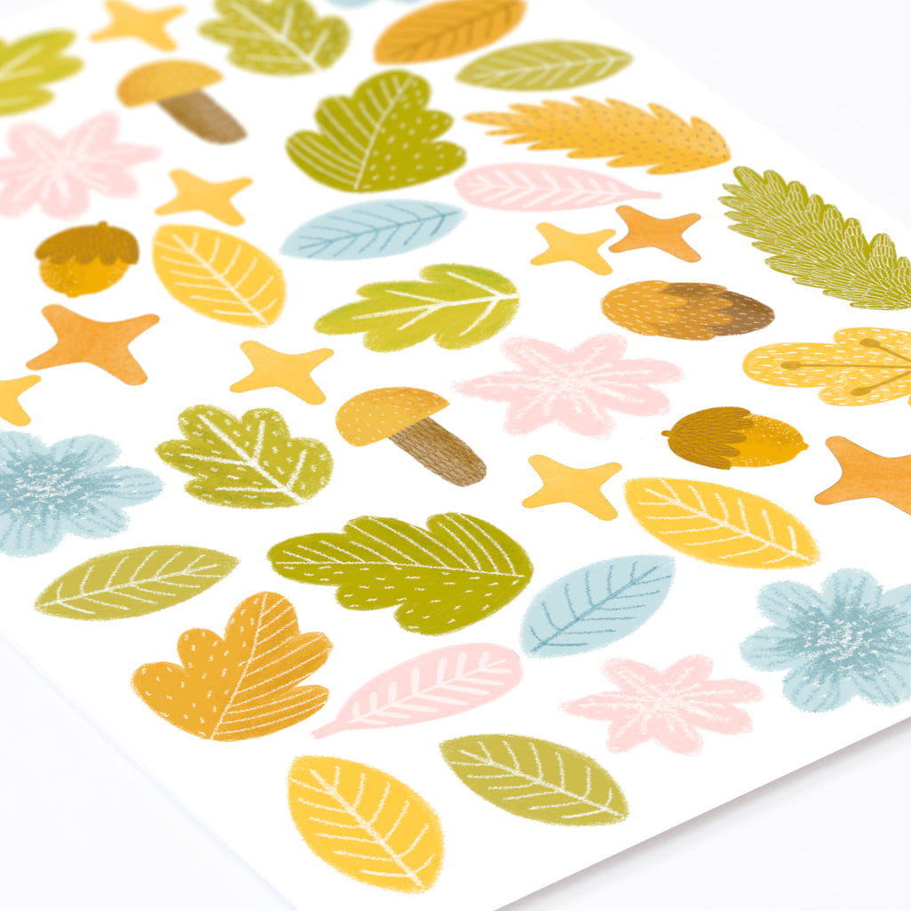 Magic Forest Leaves Wall Stickers, wall decals by Made of Sundays